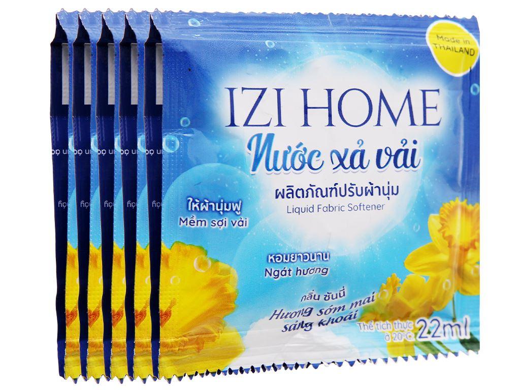 10 gói Nước xả vải IZI HOME hương sớm mai 22ml 1