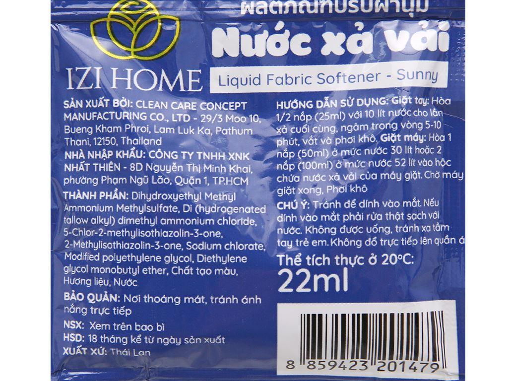 10 gói Nước xả vải IZI HOME hương sớm mai 22ml 4