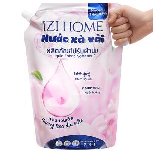 Nước xả vải IZI HOME hương hoa dịu nhẹ túi 2.4 lít