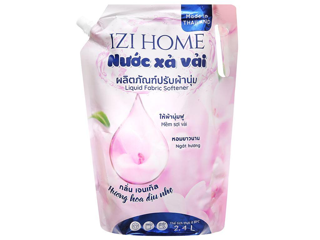 Nước xả vải IZI HOME hương hoa dịu nhẹ túi 2.4 lít 1