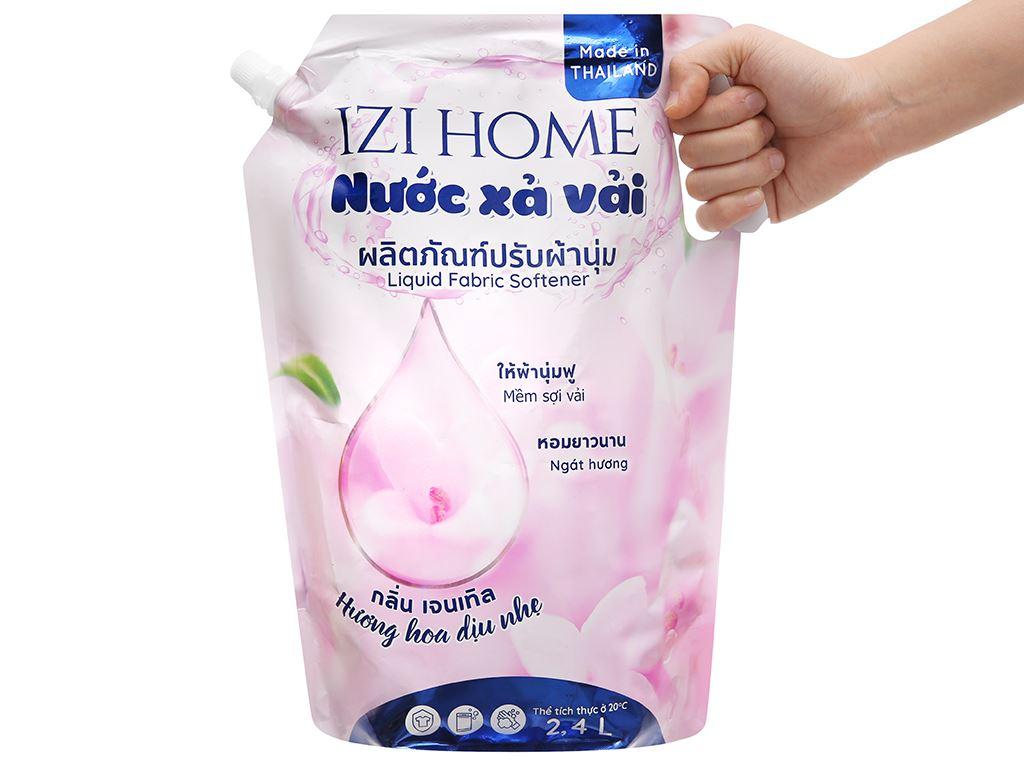 Nước xả vải IZI HOME hương hoa dịu nhẹ túi 2.4 lít 5