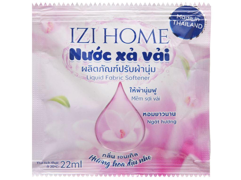 10 gói Nước xả vải IZI HOME hương hoa dịu nhẹ 22ml 2