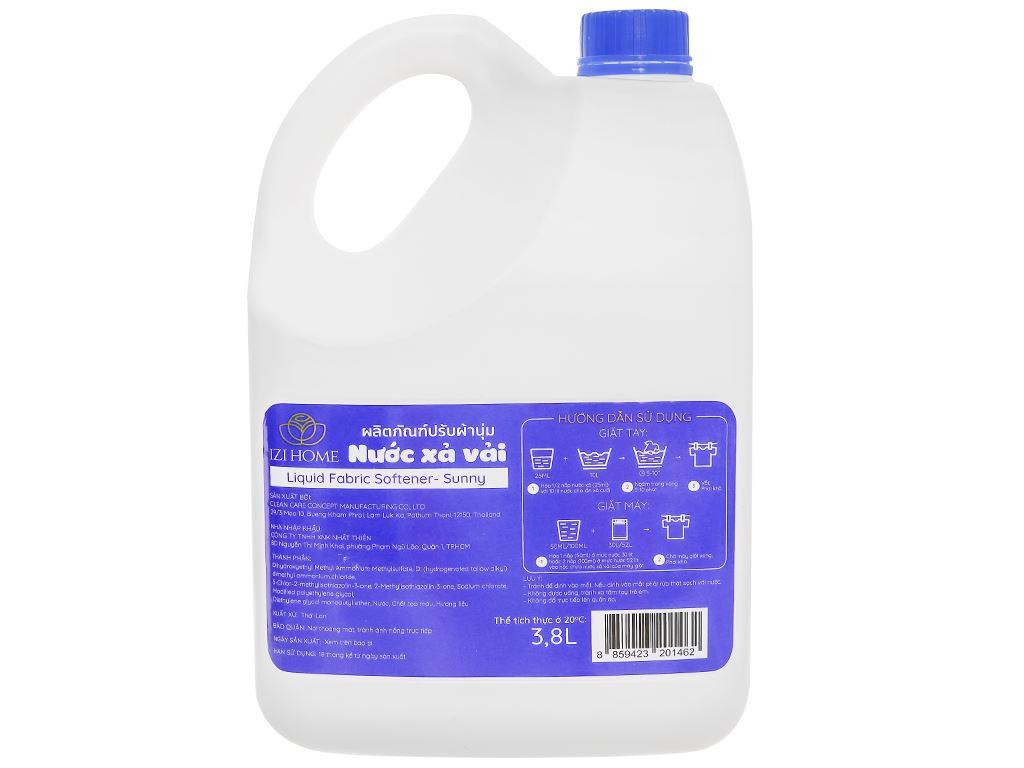 Nước xả vải IZI HOME hương sớm mai can 3.8 lít 2