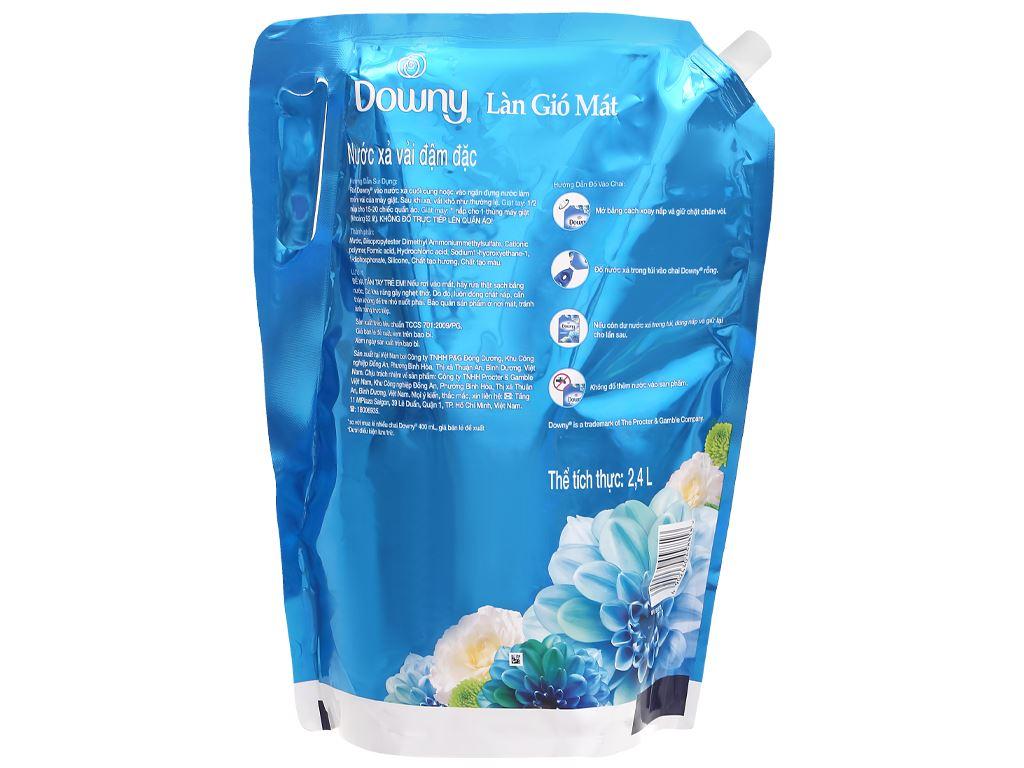 Nước xả vải Downy làn gió mát túi 2.4 kg 2