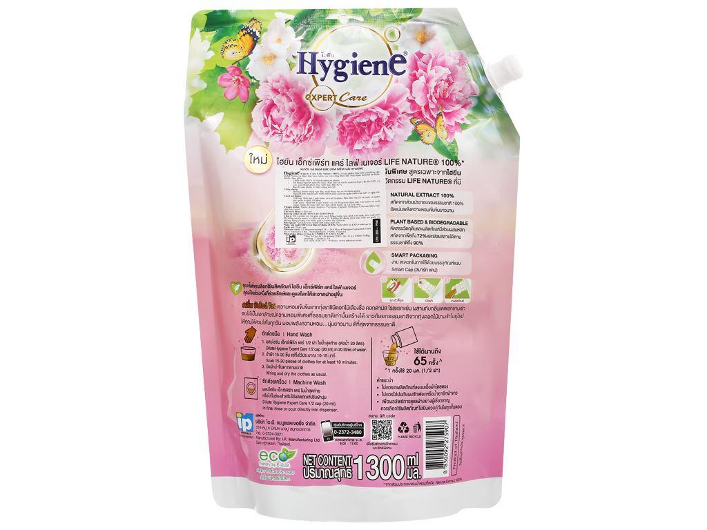 Nước xả vải Hygiene bình minh hồng 1.3 lít 2