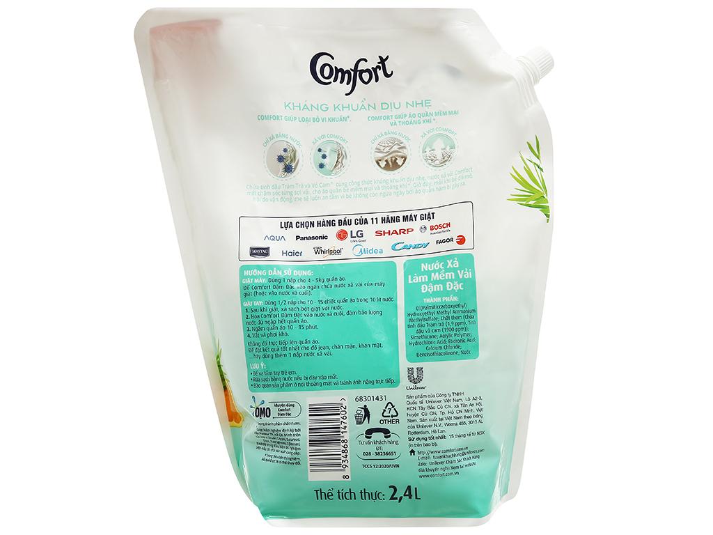 Nước xả vải Comfort kháng khuẩn dịu nhẹ túi 2.4 lít 2