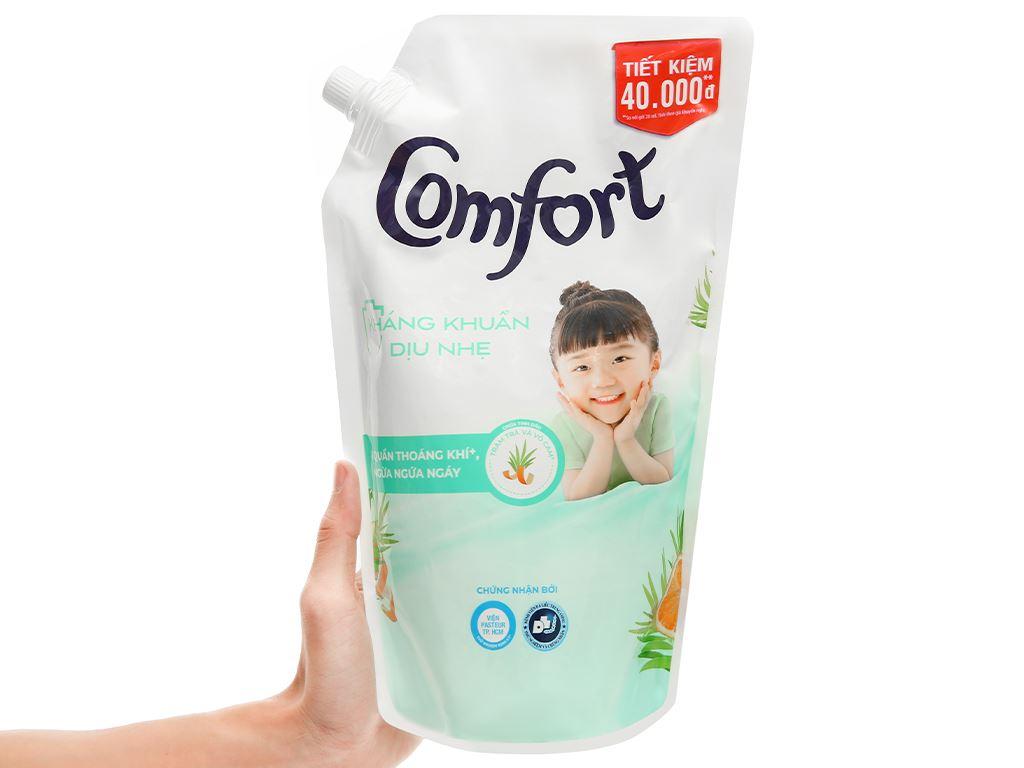 Nước xả vải Comfort kháng khuẩn dịu nhẹ túi 1.5 lít 5