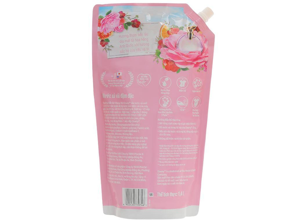 Nước xả vải Downy đóa hoa ngọt ngào túi 1.4 lít 2