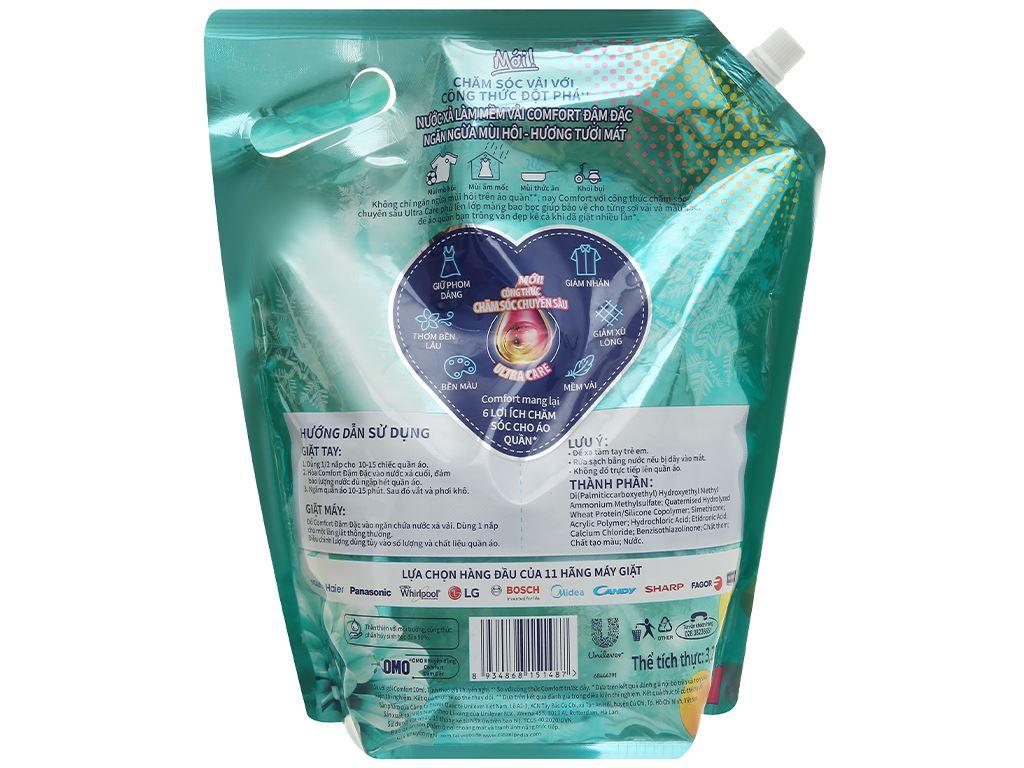 Nước xả vải Comfort Đậm Đặc ngăn mùi hôi - hương tươi mát túi 3.2 lít 3