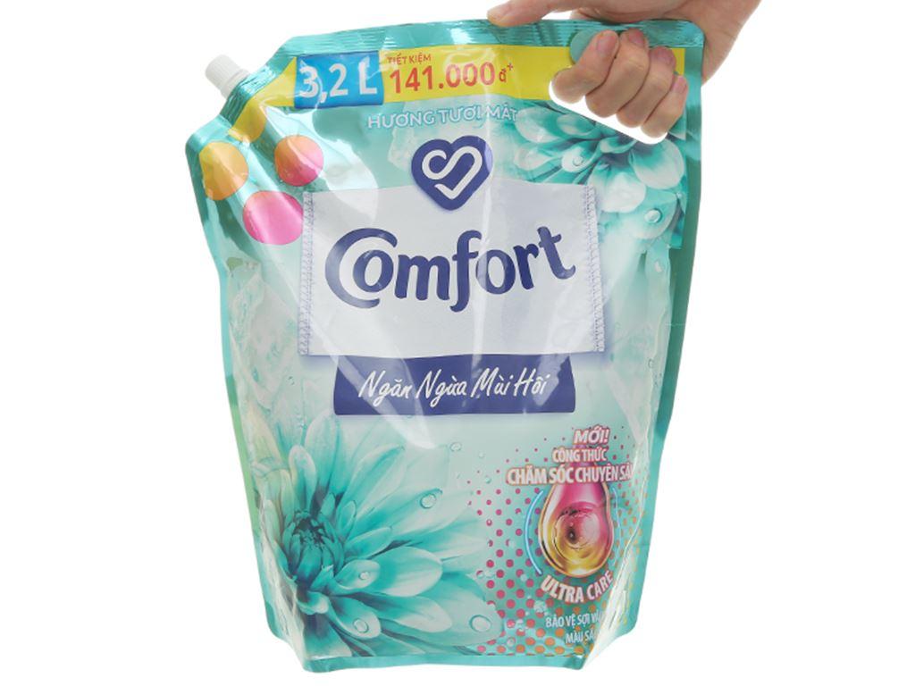 Nước xả vải Comfort Đậm Đặc ngăn mùi hôi - hương tươi mát túi 3.2 lít 6