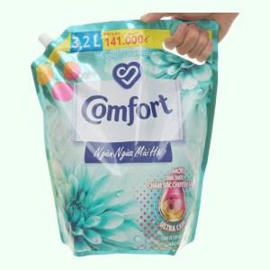 Nước xả vải Comfort Đậm Đặc ngăn mùi hôi - hương tươi mát túi 3.2 lít