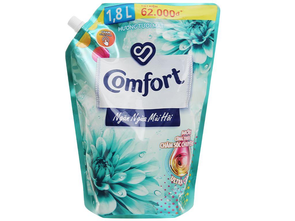 Nước xả vải Comfort Đậm Đặc ngăn mùi hôi - hương tươi mát túi 1.8 lít 1