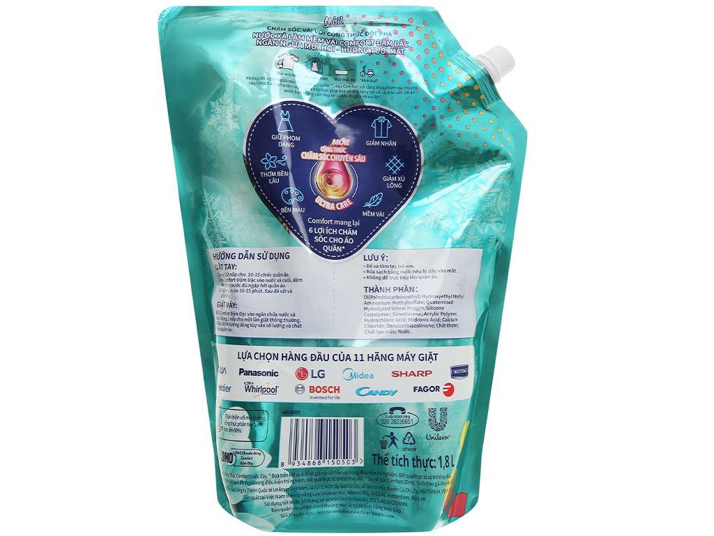 Nước xả vải Comfort Đậm Đặc ngăn mùi hôi - hương tươi mát túi 1.8 lít 2