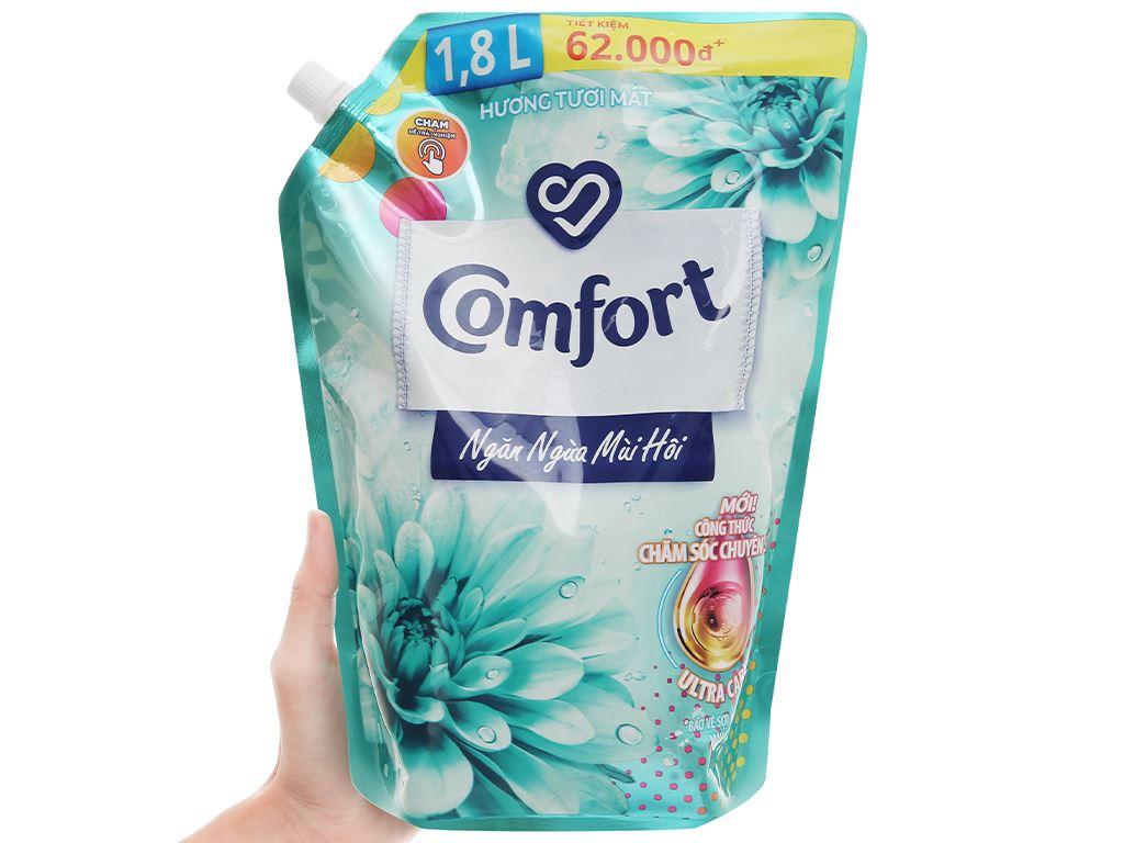 Nước xả vải Comfort Đậm Đặc ngăn mùi hôi - hương tươi mát túi 1.8 lít 4
