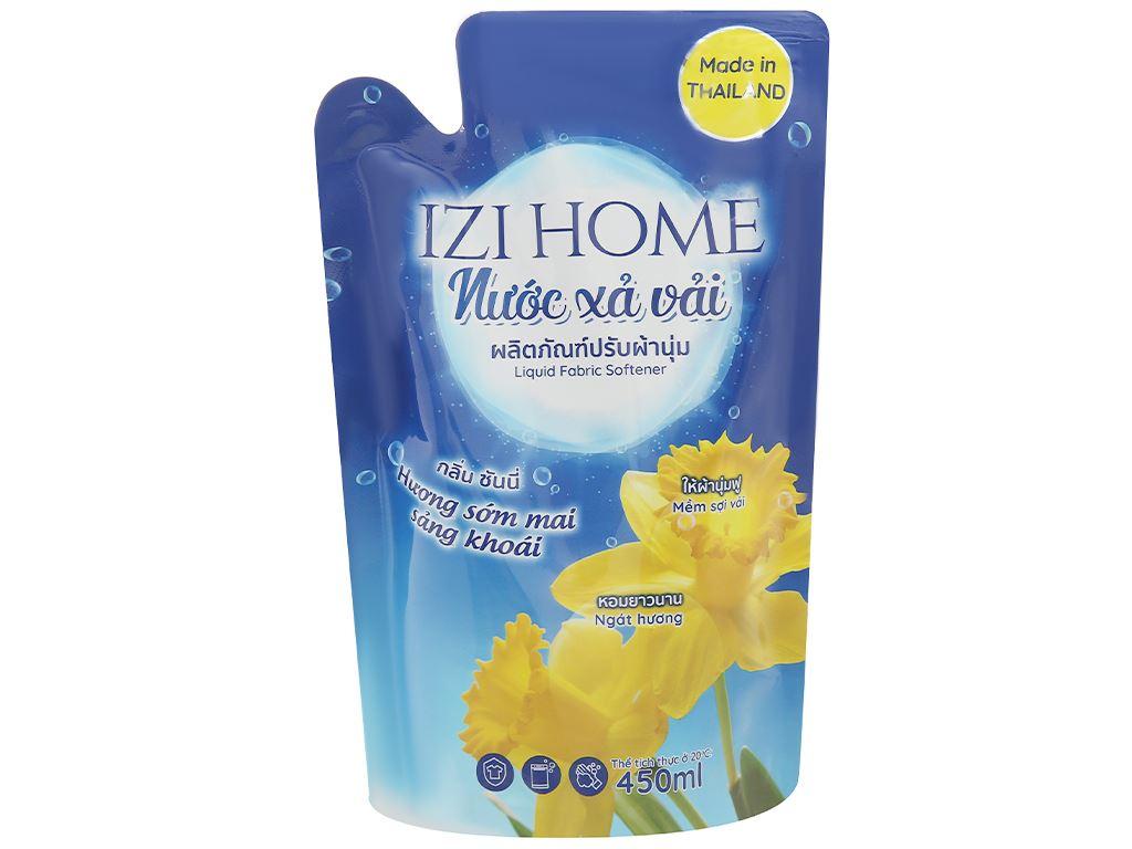 Nước xả vải IZI HOME hương sớm mai túi 450ml 1