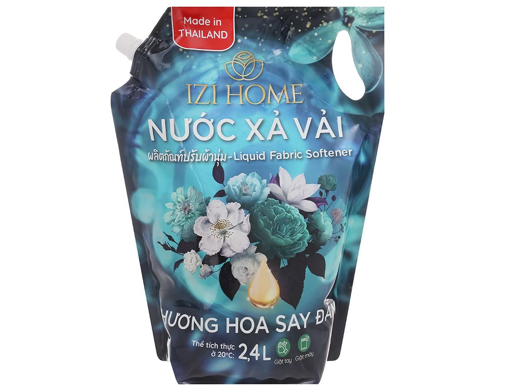 Nước xả vải IZI HOME hương hoa say đắm túi 2.4 lít 1