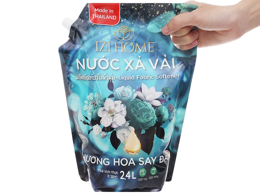 Nước xả vải IZI HOME hương hoa say đắm túi 2.4 lít 5