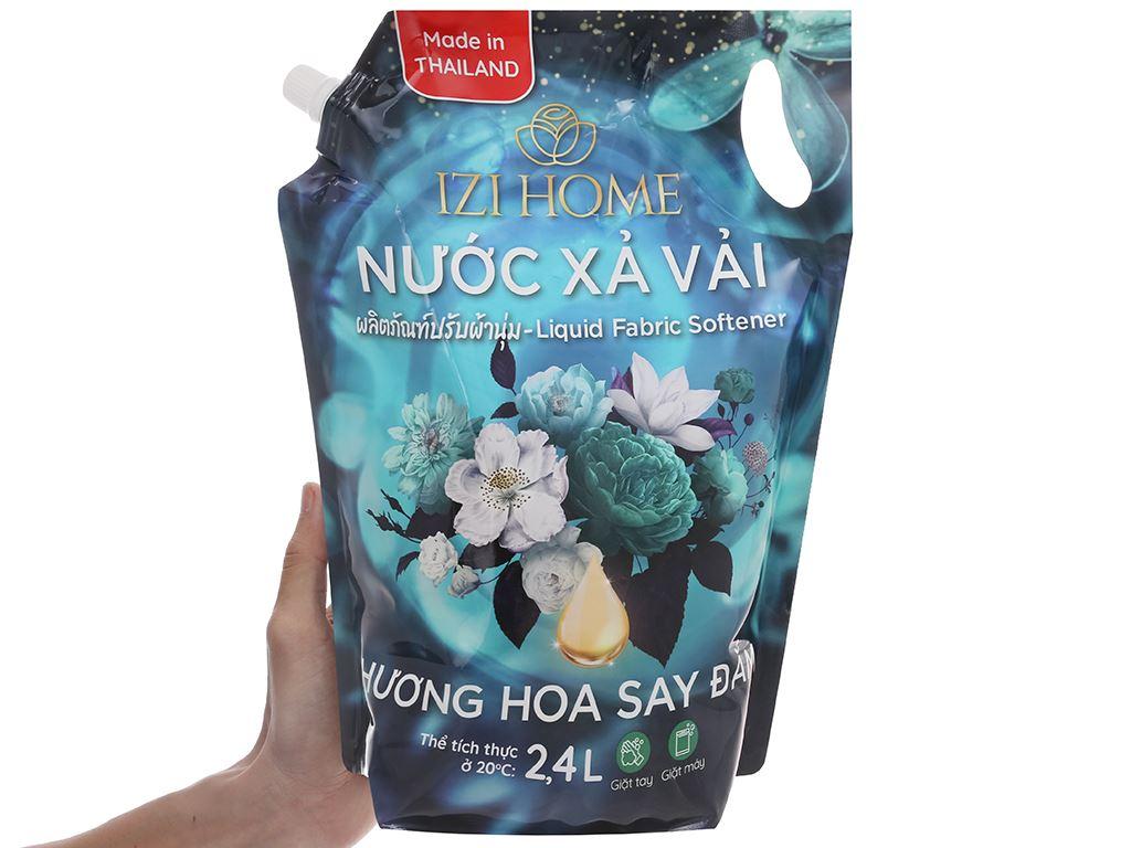 Nước xả vải IZI HOME hương hoa say đắm túi 2.4 lít 6