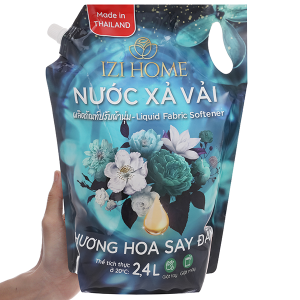 Nước xả vải IZI HOME hương hoa say đắm túi 2.4 lít