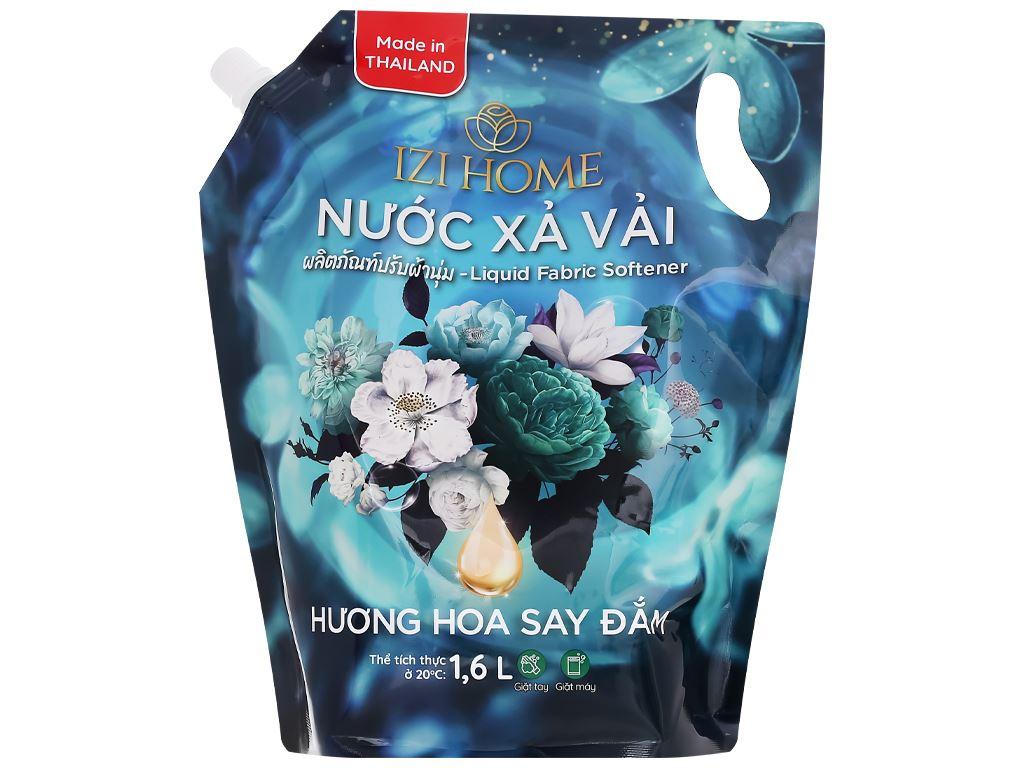 Nước xả vải IZI HOME hương hoa say đắm túi 1.6 lít 1