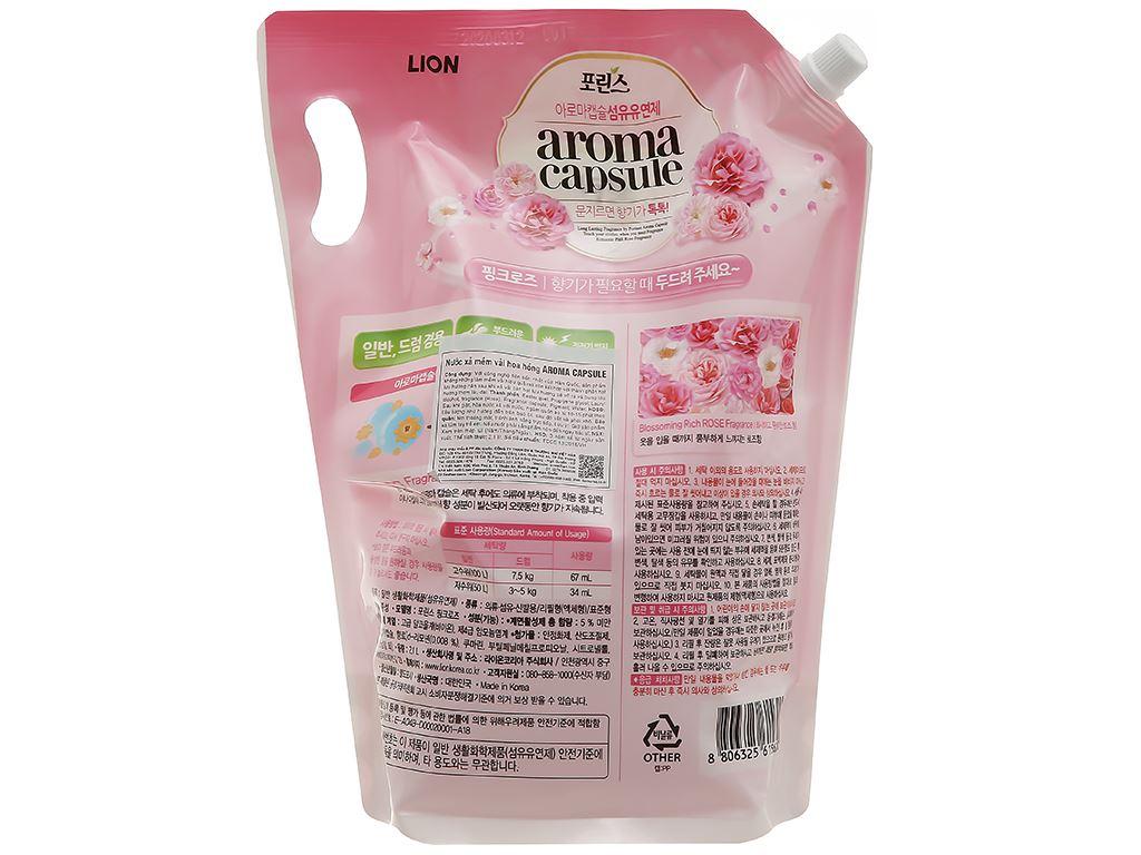 Nước xả mềm vải Aroma Capsule hương hoa hồng túi 2.1 lít 2