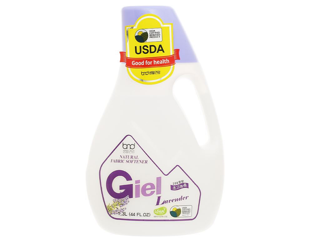 Nước xả hữu cơ sinh học Giel hương lavender chai 1.3 lít 1