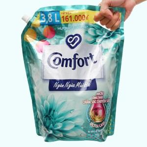 Nước xả mềm vải Comfort ngăn mùi hôi túi 3.8 lít