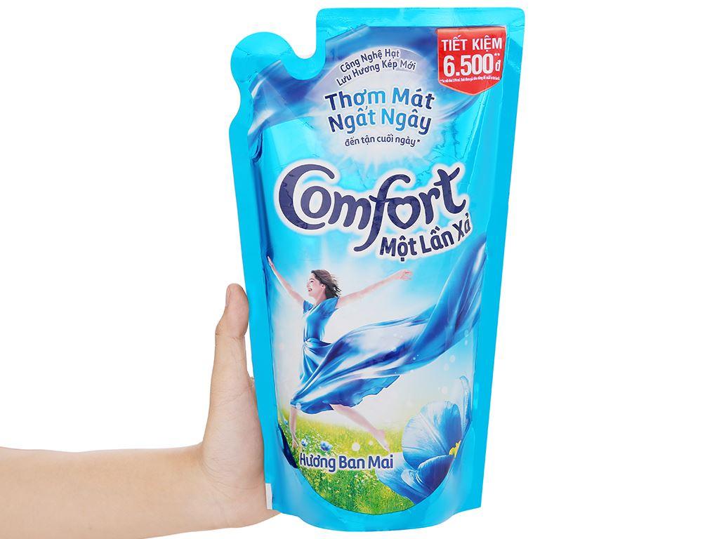 Nước xả vải Comfort một lần xả hương ban mai túi 800ml 5