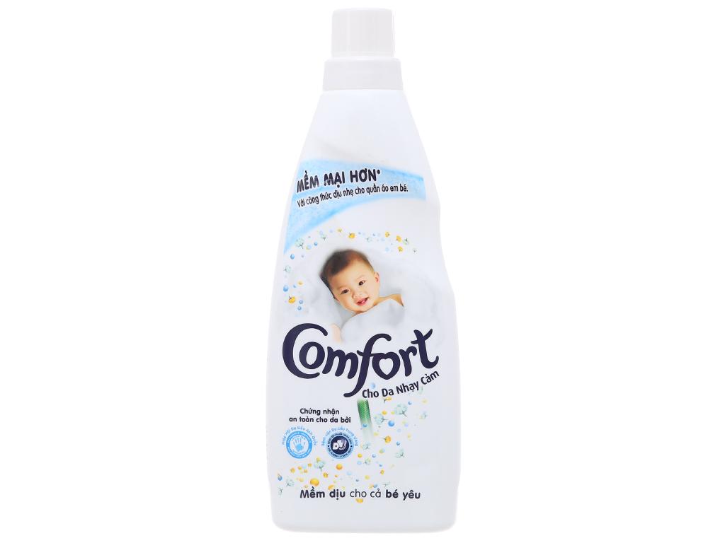 Nước xả vải Comfort cho da nhạy cảm hương phấn chai 800ml 1