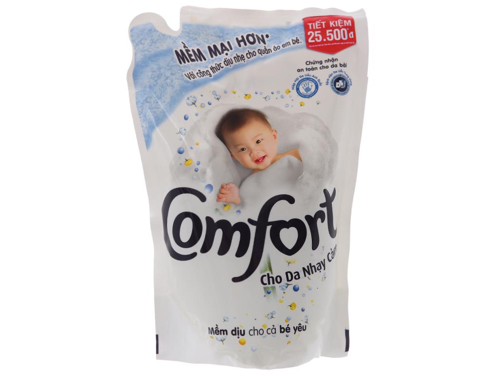 Nước xả vải Comfort cho da nhạy cảm hương phấn túi 1.6L 1