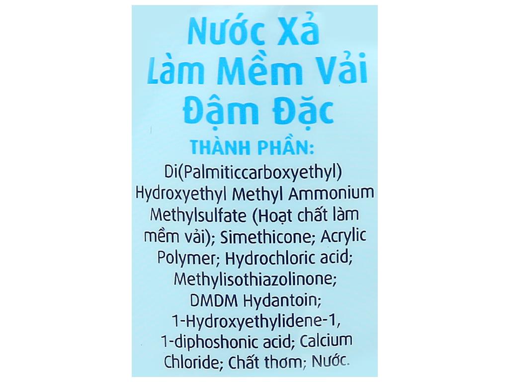 Nước xả vải Comfort cho da nhạy cảm hương phấn túi 1.6 lít 3