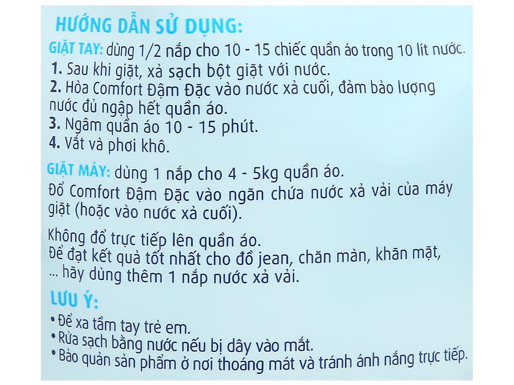 Nước xả vải Comfort cho da nhạy cảm hương phấn túi 1.6 lít 4