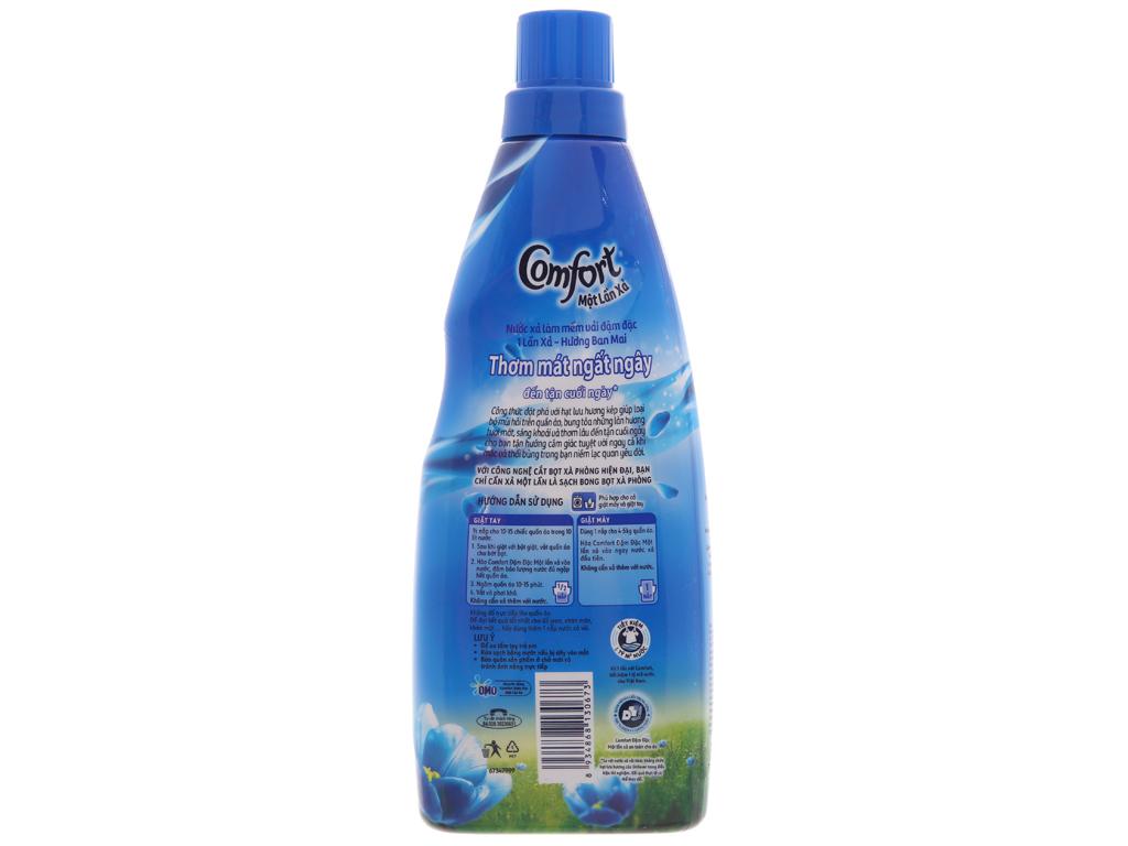 Nước xả vải Comfort một lần xả hương ban mai chai 800ml 3