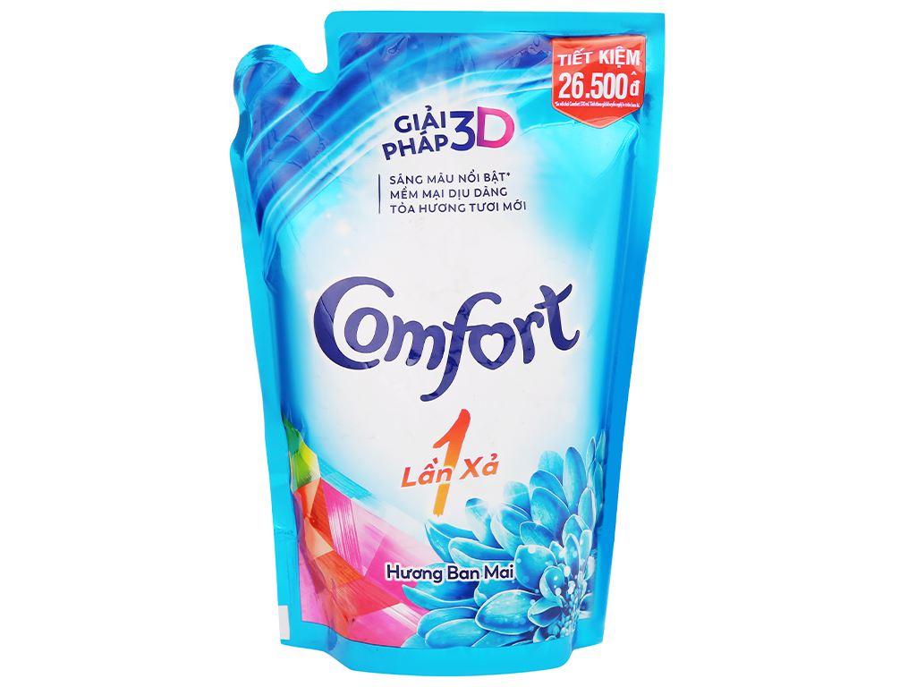 Nước xả vải Comfort một lần xả hương ban mai túi 1.6 lít 2