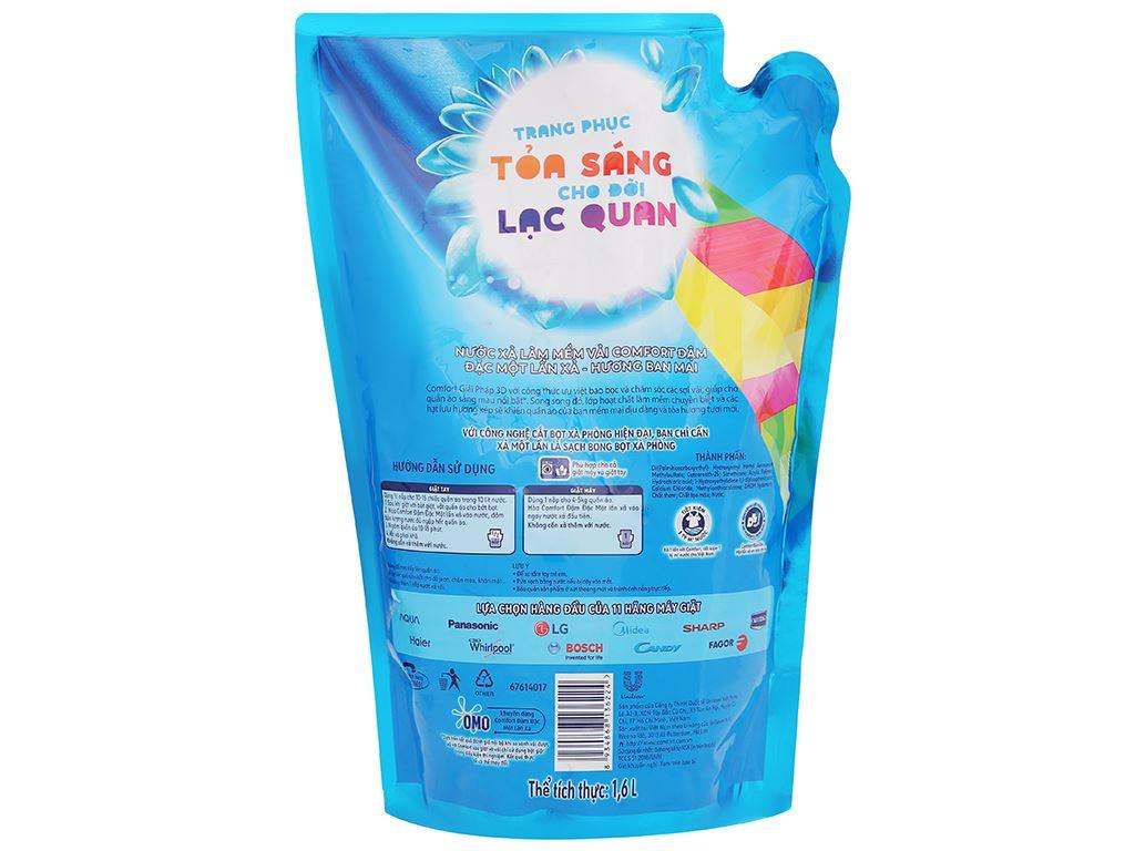 Nước xả vải Comfort một lần xả hương ban mai túi 1.6 lít 3
