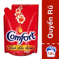 Nước xả vải Comfort Tinh dầu thơm Quyến rũ túi 1,6lít
