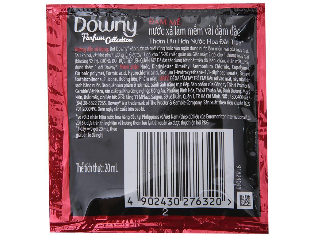 9 gói nước xả vải Downy Parfum Collection đam mê 20ml 4