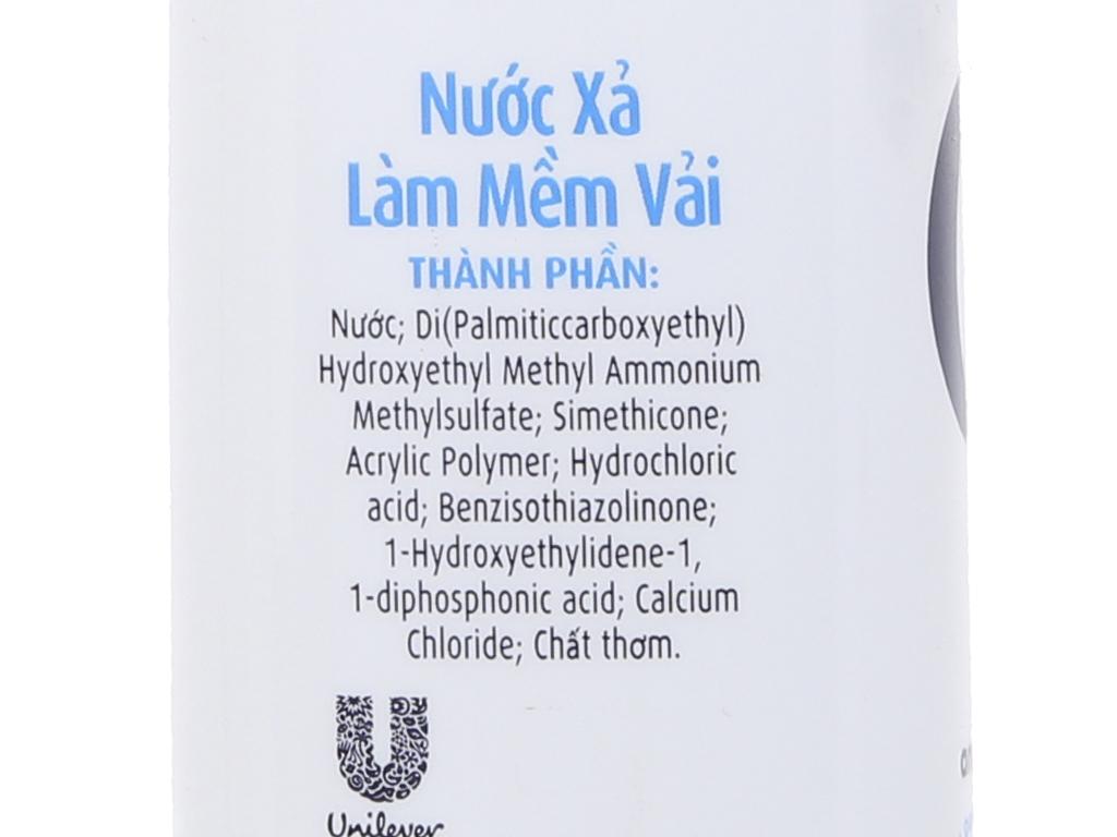 Nước xả vải Comfort cho da nhạy cảm hương phấn chai 1.8 lít 4