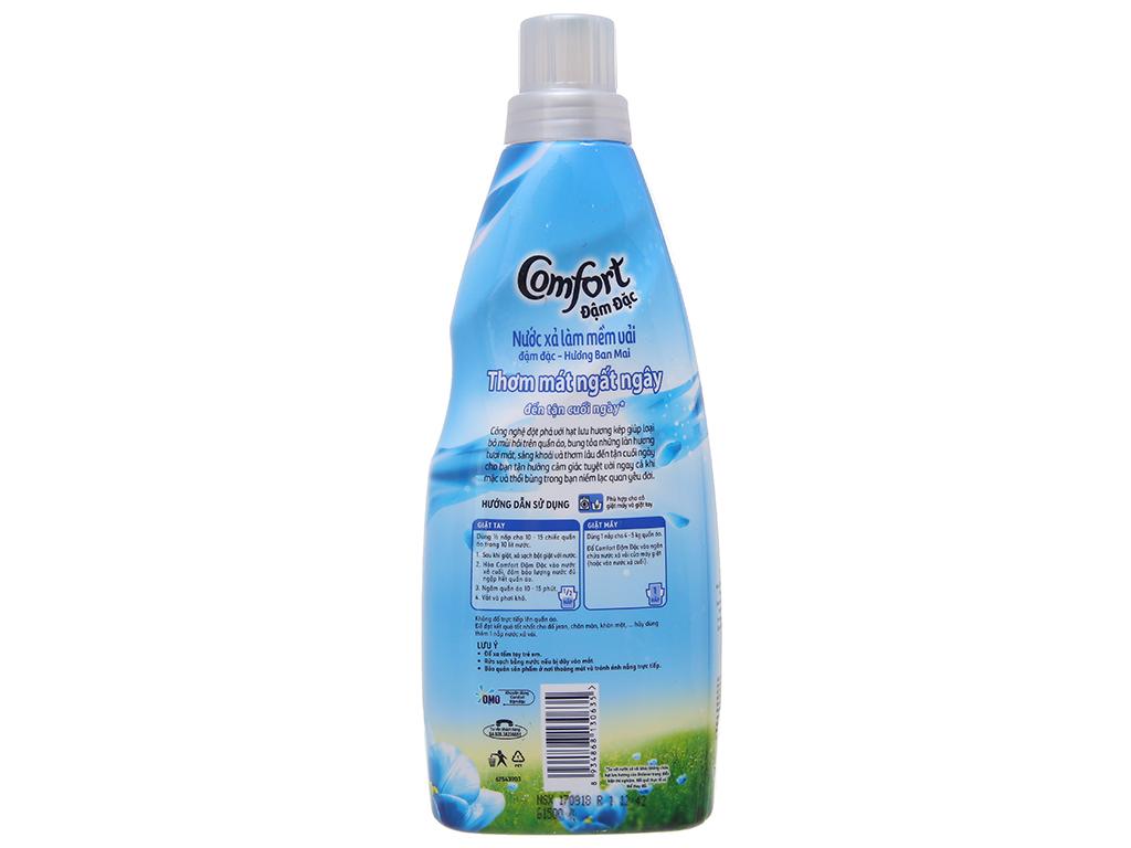 Nước xả vải Comfort hương ban mai chai 800ml 3