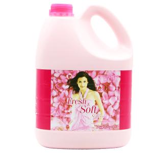 Nước xả vải Fresh & Soft Pink Elegance can 3.8 lít