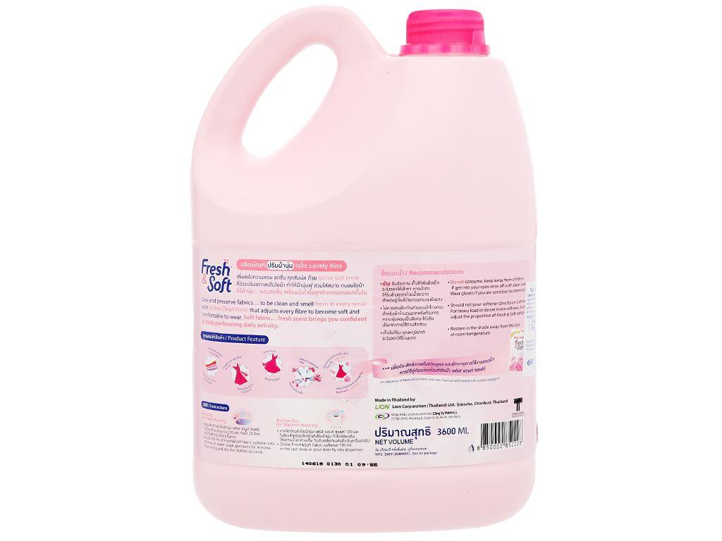 Nước xả vải Fresh & Soft Pink Elegance can 3.8 lít 2