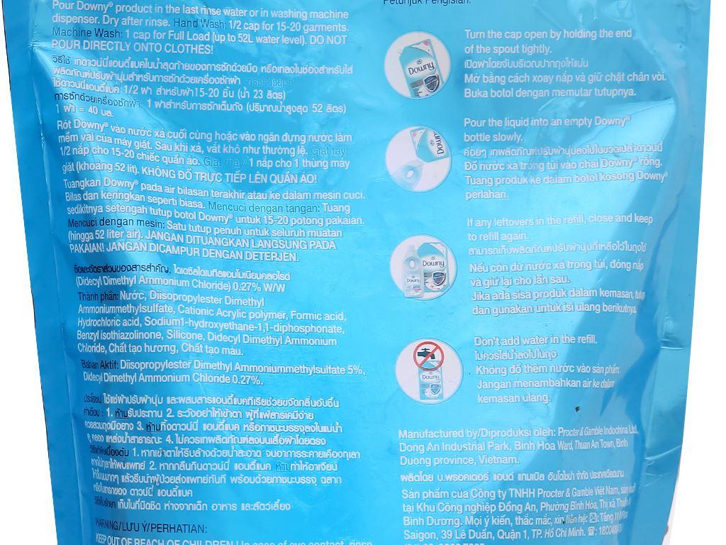 Nước xả vải Downy chống khuẩn túi 1.5 lít 4