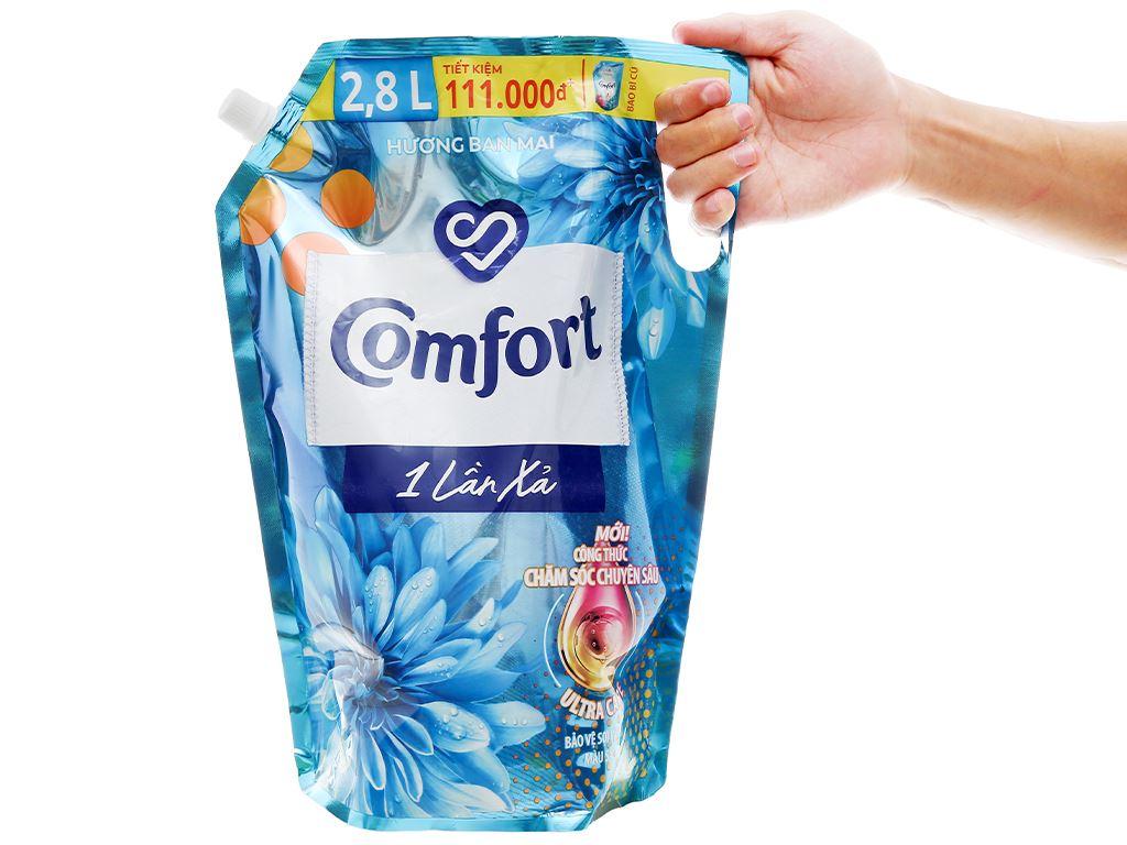 Nước xả vải Comfort một lần xả hương ban mai túi 2.6 lít 4