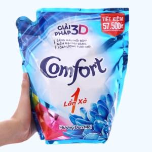 Nước xả vải Comfort một lần xả hương ban mai túi 2.6 lít