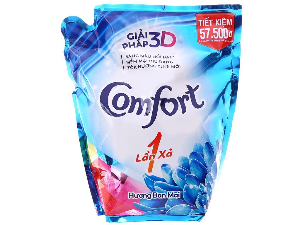 Nước xả vải Comfort một lần xả hương ban mai túi 2.6 lít 1
