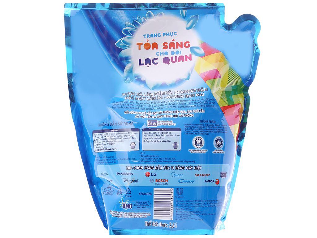 Nước xả vải Comfort một lần xả hương ban mai túi 2.6 lít 2
