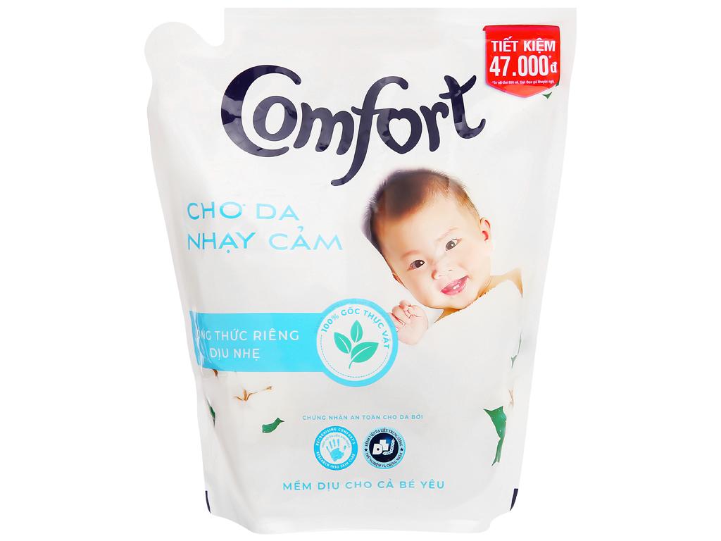 Nước xả vải Comfort cho da nhạy cảm hương phấn túi 2.6 lít 1
