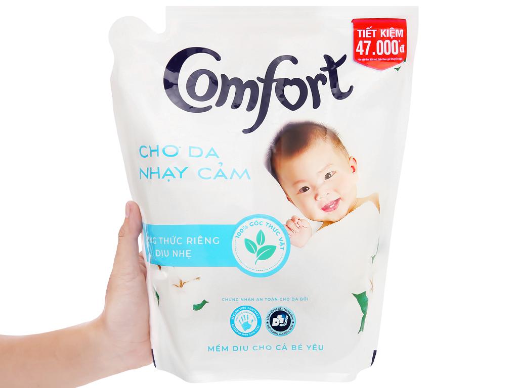 Nước xả vải Comfort cho da nhạy cảm hương phấn túi 2.6 lít 4