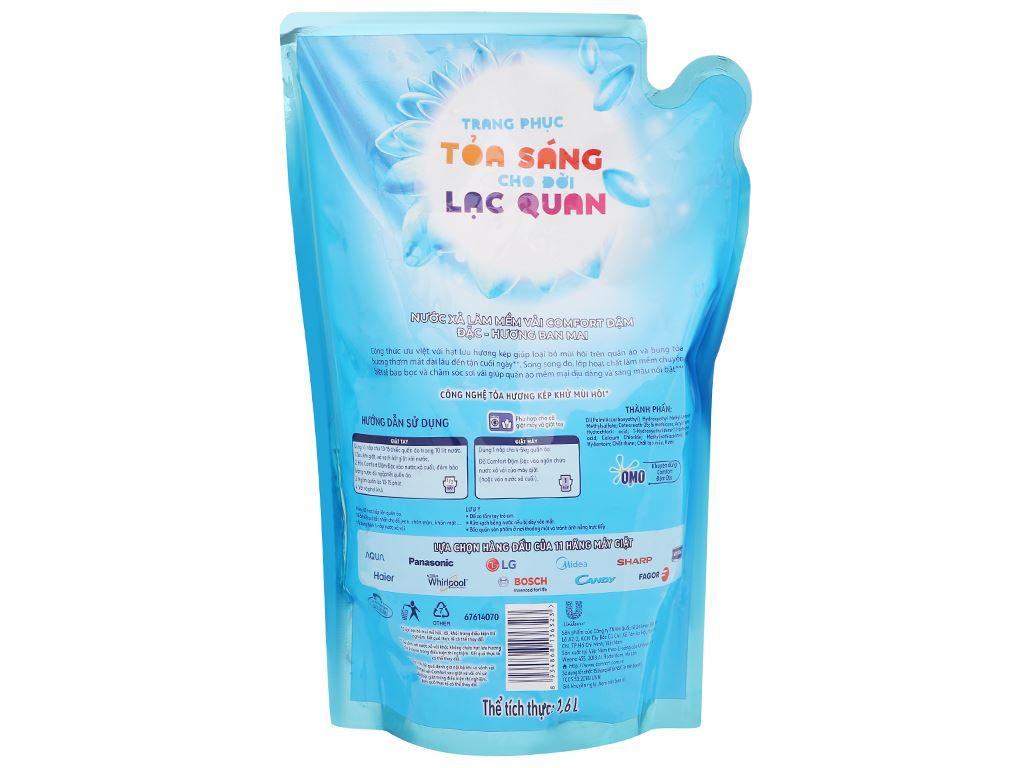 Nước xả vải Comfort hương ban mai túi 1.6 lít 3