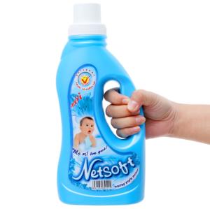 Nước xả vải cho bé Netsoft hương biển xanh chai 1 lít